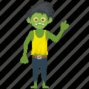 germ character, halloween cartoon, halloween character, walking dead man, zombie apocalypse icon
