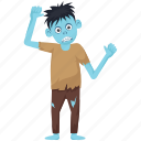 creepy zombie, halloween character, halloween costume, zombie apocalypse, zombie boy icon