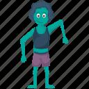 blue lady zombie, creepy witch, scary enchantress, sea witch, zombie girl icon