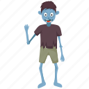 broken teeth zombie, halloween character, halloween costume, man eater, zombie with axe icon