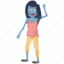 creepy witch, dead woman walking, long hair scary witch, scary enchantress, zombie apocalypse icon