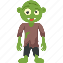 apocalypse, halloween character, halloween costume, mad face zombie, zombie alien icon