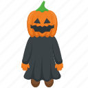 frightening pumpkin, halloween celebration, halloween costume, halloween pumpkin, spooky pumpkin icon