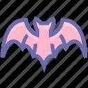 bat, dreadful, evil bat, fearful, halloween bat, horrible, scary icon
