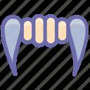 demon mouth, devil teeth, halloween demon mouth, halloween denture fangs icon