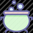 halloween cauldron, halloween cooking pot, halloween cookpot, halloween pot, scary, scoopy icon