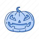 halloween, holidays, monster, pumpkin, scary, spooky icon