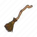 broom, broom's witch, broomstick, halloween, holidays, horror, spooky icon