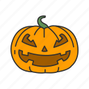 carved pumpkin, halloween, holidays, horror, monster, pumpkin, spooky icon