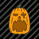 carved squash, spooky, horror, halloween, holidays, vegetable, pumpkin