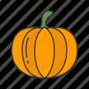 halloween, holidays, horror, pumpkin, spooky, squash, vegetable icon