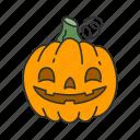 carved pumpkin, halloween, holidays, horror, pumkin, spooky, squash icon