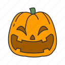 halloween, holidays, horror, pumpkin, scary, spooky, vegetable icon