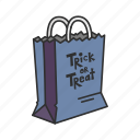 bag, candy bag, halloween, holidays, horror, paper bag, trick or treat icon