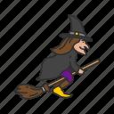 artboard, broom stick, enchantress, halloween, holidays, spooky, witch icon