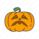 carved pumpkin, halloween, holidays, horror, pumpkin, spooky, squash icon