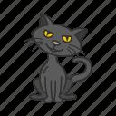 cat, halloween, holidays, horror, pet, scary, spooky icon