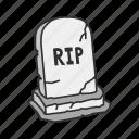 cemetery, graveyard, halloween, holidays, horror, spooky, tombstone icon