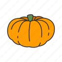 food, halloween, holidays, horror, pumpkin, scary, squash icon