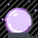ball, crystal, dreadful, halloween, magic icon