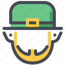 beard, face, halloween, irish, leprechaun, luck, patrick icon