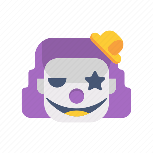 character, clown, halloween, horror, monster, scary, set icon