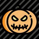 autumn, devil, halloween, holidays, pumpkin, scary icon