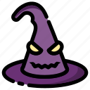autumn, halloween, hat, holidays, scary, witch icon