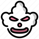 clown, face, halloween, holidays, mask, scary icon