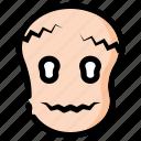 face, halloween, holidays, mask, mummy, skull, zombie icon