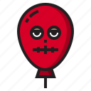 balloon, dead, halloween, monster icon