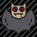 bat, fear, halloween, horror icon