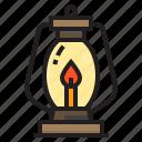 dead, halloween, horror, lamp icon