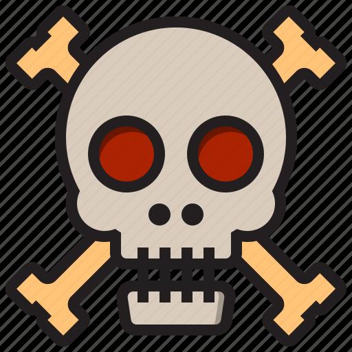 dead, ghost, halloween, skull icon