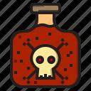 fear, halloween, horror, skull icon