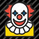 character, clown, cosplay, halloween, horror, men