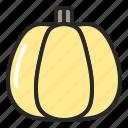 autumn, fall, halloween, pumpkin, vegetable icon