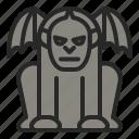 gargoyle, halloween, horror, ornament, statue icon