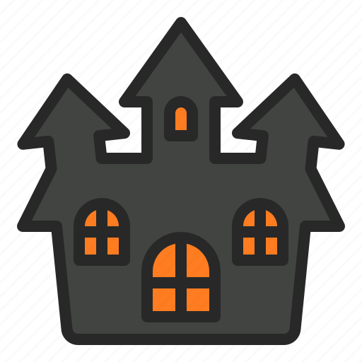 building, halloween, haunted, horror, house, mansion icon