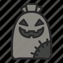 character, halloween, horror, jute, jutebag icon