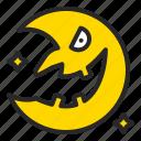 crescent, halloween, horror, moon icon