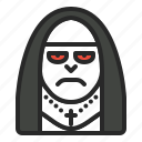 character, halloween, horror, monk, nun icon