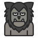 character, cosplay, halloween, horror, werewolf, wolf, wolfman icon