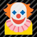 character, clown, cosplay, halloween, horror, men icon