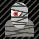 character, halloween, horror, mummy, zombie icon