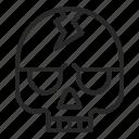 bone, cranium, death, halloween, skeleton, skull icon