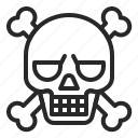 bone, death, halloween, pirate, skeleton, skull icon