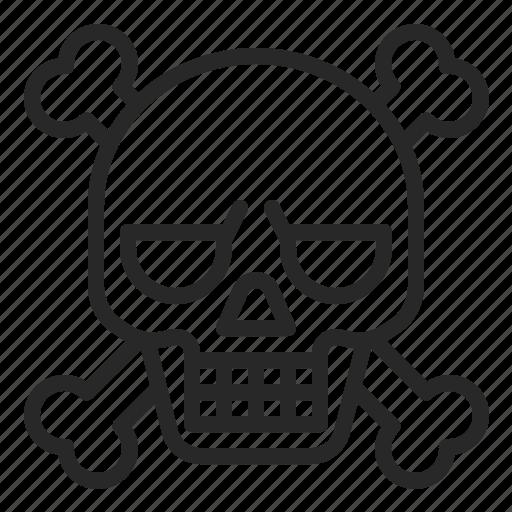 bone, death, halloween, pirate, skeleton, skull icon