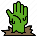 gesture, halloween, hand, touch, zombie icon