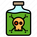 ghost, halloween, horror, poison, scary icon